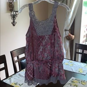 Beautiful pink and purple dressy top! NWT!